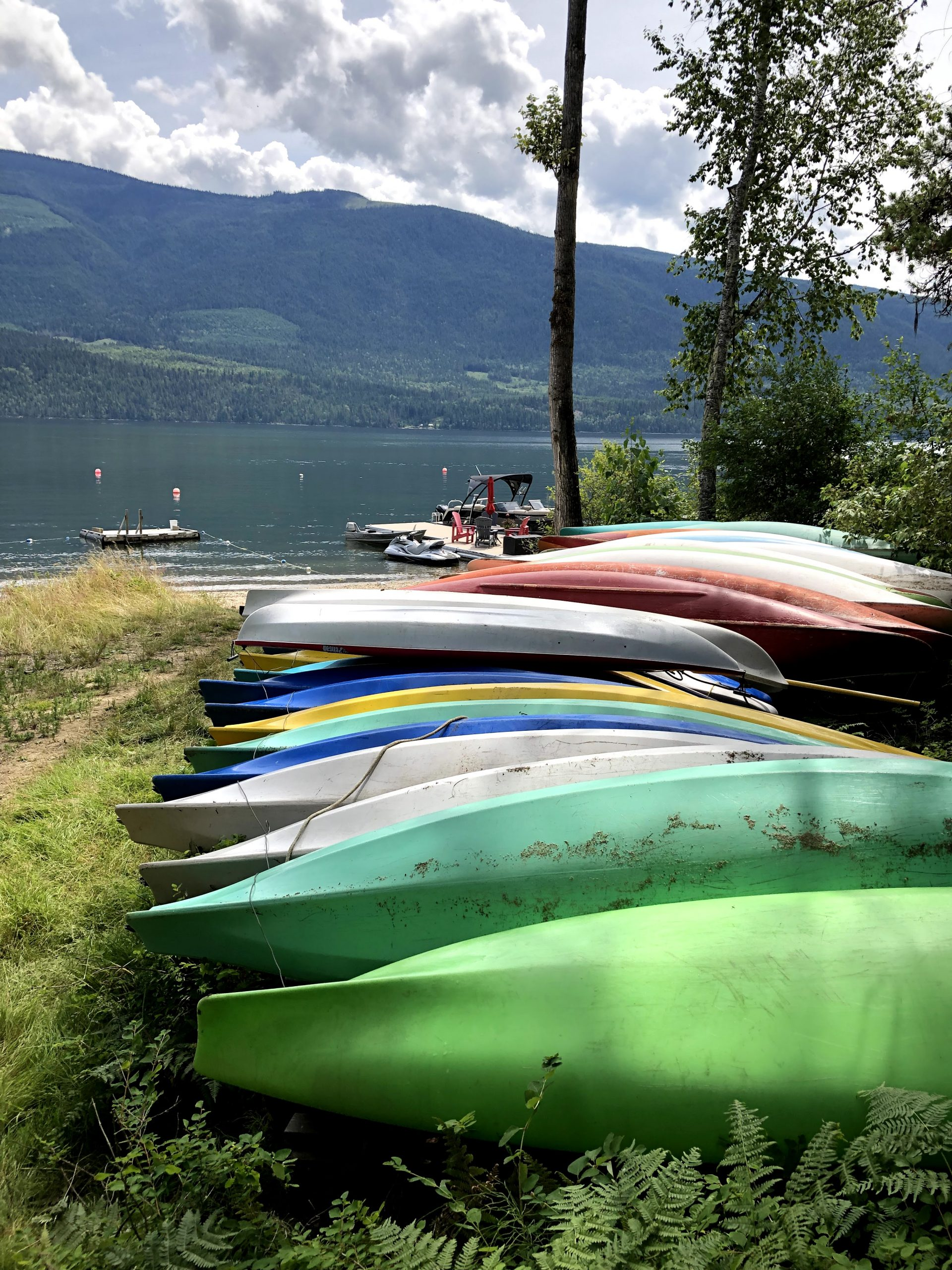 Canoes bu our lake front