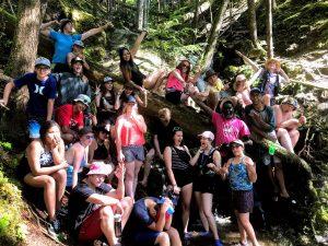 Mackenzie Camp Group On A Hike